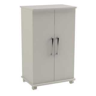 Accentuations by Manhattan Mobile White Shoe Closet with Shelves