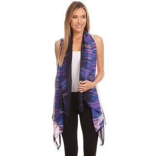 High Secret Women's Multi-color Polyester Cardigan Vest