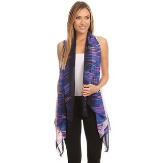 High Secret Women's Multi-color Polyester Cardigan Vest (More options available)