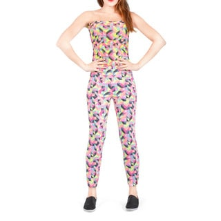 Bluberry Women's BBD-WB-704 Neon Pop Convertible Carnival Jump Suit