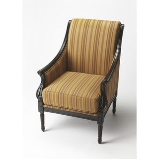 Butler Wexford Black Licorice Wood/Fabric Accent Chair