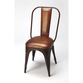 Butler Riggins Iron and Leather Side Chair