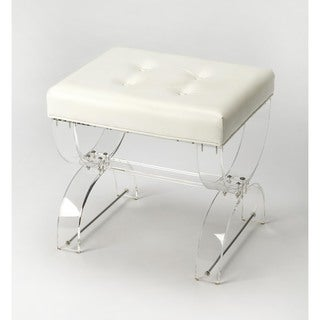 Shop Aurora Home Acrylic Stool With Removable Mongolian