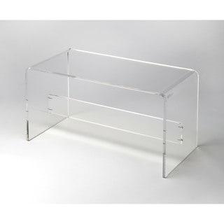 Butler Clear Acrylic Bench
