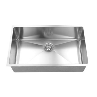 BOANN UMR3018 R15 Brushed 304 Stainless Steel 16-gauge 30-inch x 18-inch Handmade Single-bowl Undermount Kitchen Sink