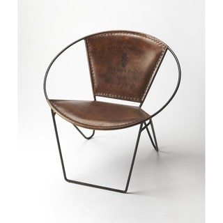Butler Milo Iron and Leather Accent Chair