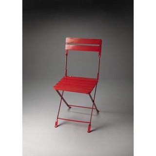 Butler Bailey Red Wood Folding Chair