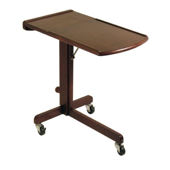 Winsome Brown Wood Adjustable Laptop Cart (Cart), Size Small