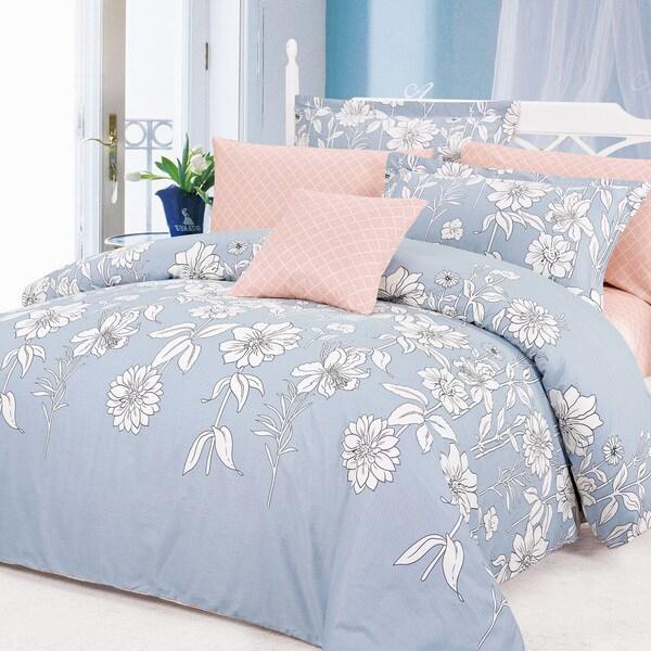 North Home Blinda 100-percent Cotton 4-piece Duvet Cover Set