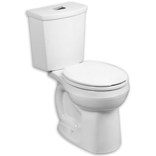American Standard H2Option White Porcelain Antimicrobial Round Toilet
