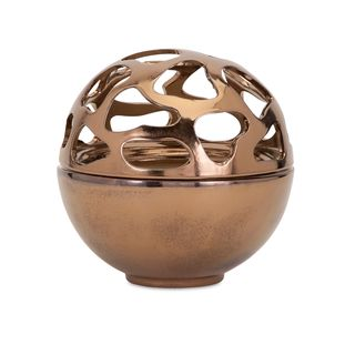 Beth Kushnick Bronze Cutout Bowl
