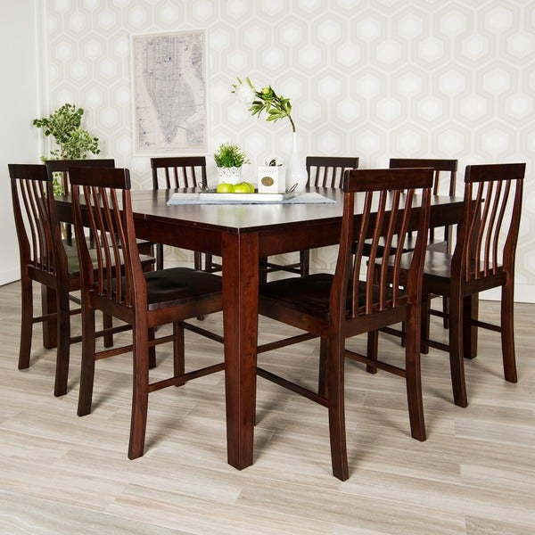 Square Dining Table With Bench: 60-inch Cappuccino Square Wood Dining Table