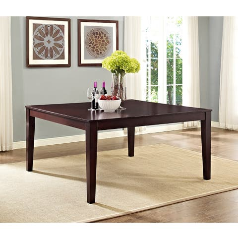 "60"" Square Dining Table - Cappuccino - 60 x 60 x 30"