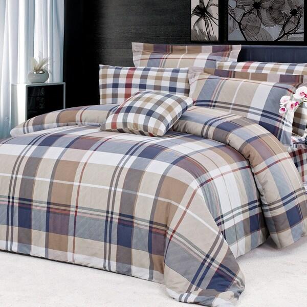 North Home Cambridge 100-percent Cotton 4-piece Duvet Cover Set
