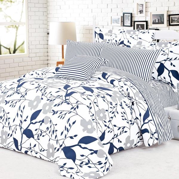 North Home Cynthia 100-percent Cotton 4-piece Duvet Cover Set