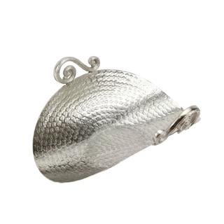 Silver Aluminum Curved Centerpiece