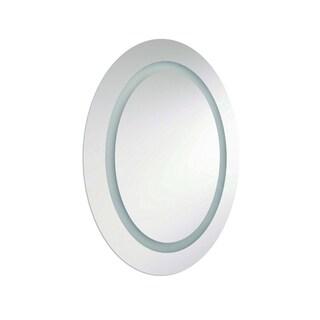 Dainolite 40W Silver 28-inch x 23-inch Inside Illuminated Oval Mirror - 28 x23