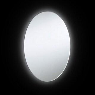 Dainolite 24-watt Backlit 28-inch x 23-inch Oval Mirror - White