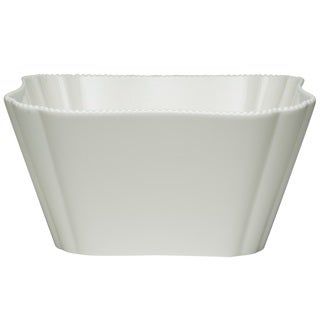 Red Vanilla Pinpoint White Porcelain 9.5-inch 128-ounce Salad Bowl