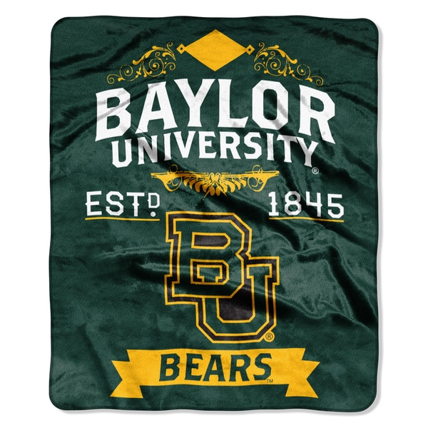 COL 704 Baylor University Multi-color Polyester Raschel Throw