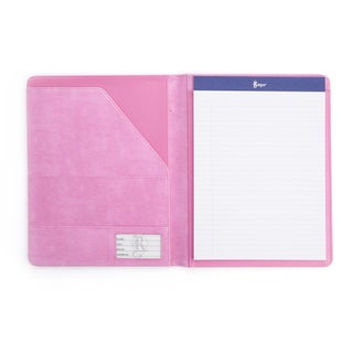 Royce Leather Pink Aristo Bonded-leather Executive Writing Portfolio Document Organizer in Support of Breast Cancer Research