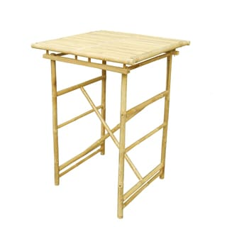 Zew Natural Wood Hand-crafted Square Bar-height Table