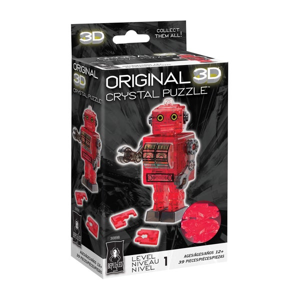 Bepuzzled 3D Crystal Puzzle Red 39-piece Robot