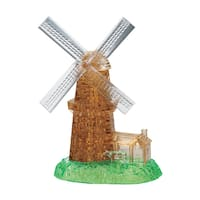 BePuzzled Windmill 64-piece 3D Crystal Puzzle