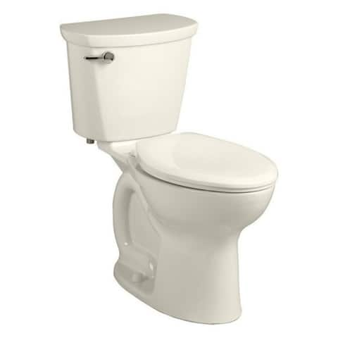 American Standard Cadet Linen-colored Porcelain Elongated 2-piece Toilet
