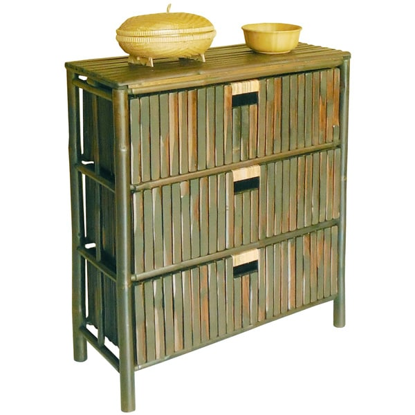 Shop Zew Handcrafted 3 Drawer Bamboo Chest Cabinet Storage