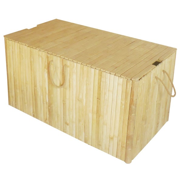 Zew Handcrafted Bamboo Indoor Outdoor Medium Storage Chest Free Shipping Today 12042358