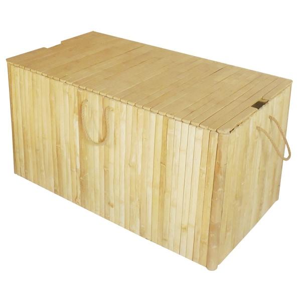 Zew Handcrafted Bamboo Indoor/Outdoor Medium Storage Chest