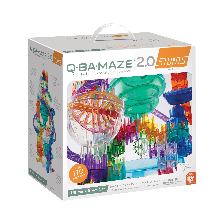 Q-BA-Maze 2.0 Stunt Sets Marble Maze Set of 3