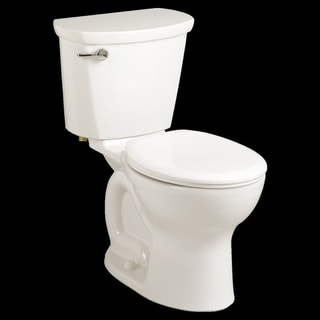 American Standard Cadet Pro Round Front Two-Piece 1.28 GPF Toilet with 12-in Rough-In - White