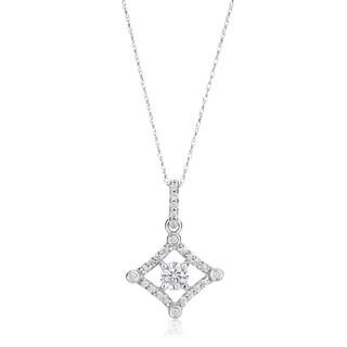 SummerRose 14k White Gold 1/2-carat TDW Diamond Antique Pendant Necklace