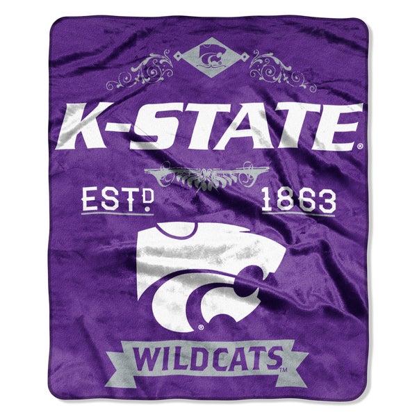 COL 704 Kansas State Label Raschel Throw
