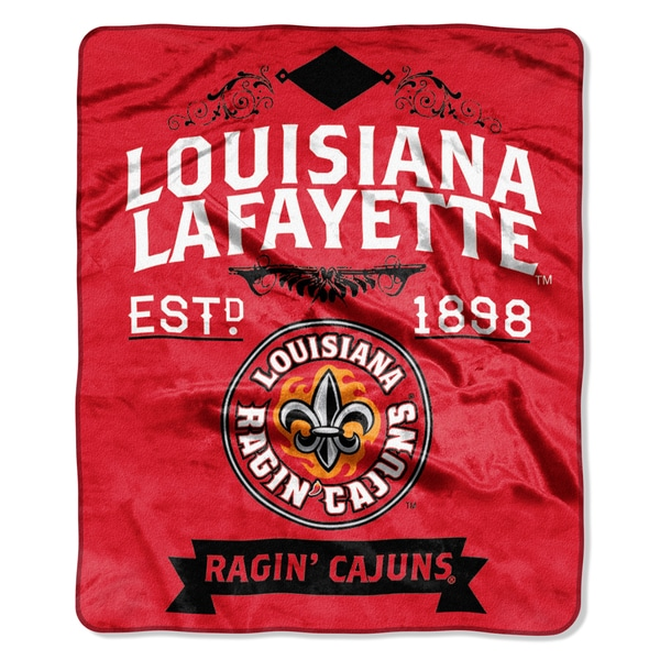 COL 704 Louisiana Lafayette Label Raschel Multicolor Polyester Blanket