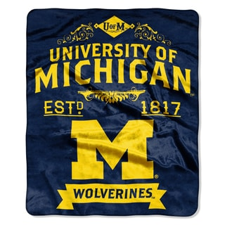 COL 704 University of Michigan Wolverines Raschel Throw
