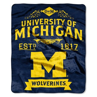COL 704 University of Michigan Wolverines Raschel Throw