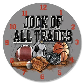 'Jock of All Trades' Grey Wood Vanity Clock