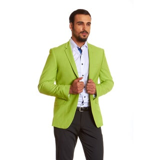 Suslo Couture Men's Green Linen Sport Coat Blazer