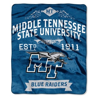 COL 704 Polyester Middle Tennessee State Label Raschel Throw