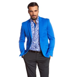 Suslo Couture Men's Etan Royal Blue Acetate Blazer
