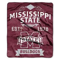 COL 704 Polyester Mississippi State Raschel Throw