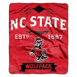COL 704 NC State Label Raschel Throw