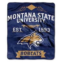 COL 704 Polyester Montana State Label Raschel Throw