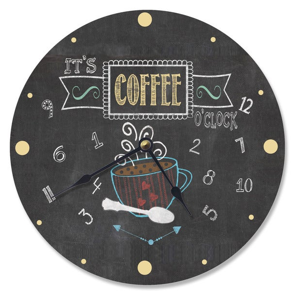 It's Coffee Grey Wood Wall Clock