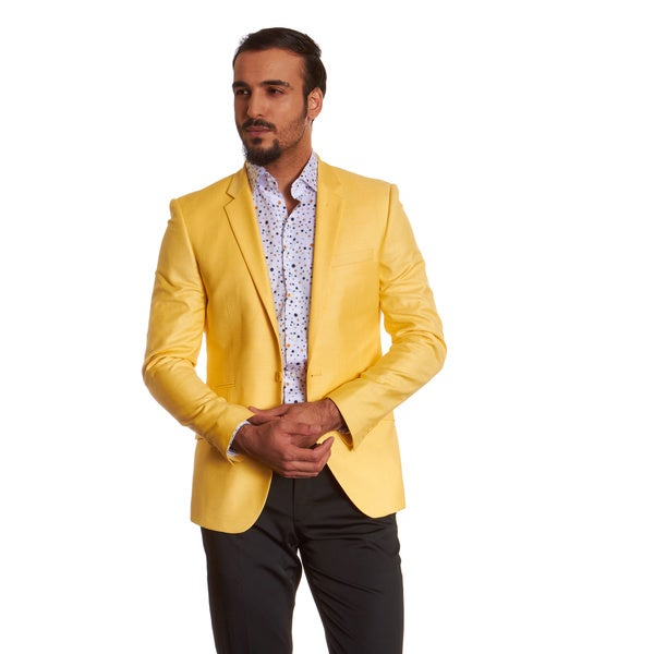 Suslo Couture Men's Dylan Yellow Sport Coat - Free Shipping Today