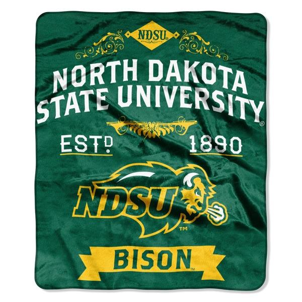 COL 704 North Dakota State University Polyester Raschel Throw
