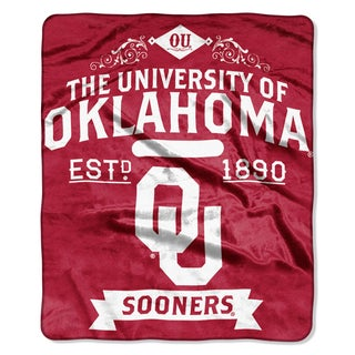COL 704 Oklahoma Label Raschel Throw